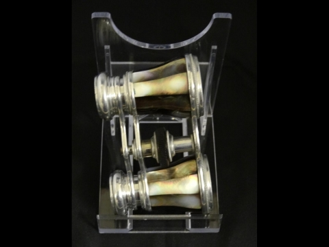 image showing catalogue for Mother-Of-Pearl And Silver Plate Opera Glasses