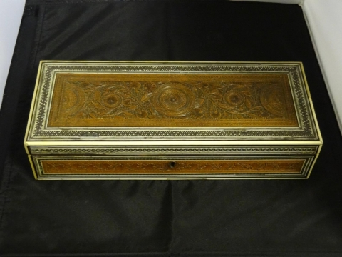 image showing catalogue for Anglo-Indian Sandalwood, Ivory And Sadeli Box
