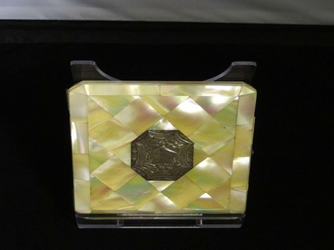 image showing catalogue for Mother-Of-Pearl And Silver Card Case