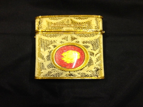 image showing catalogue for French Gold-Mounted And Pierced Ivory Souvenir Card Case