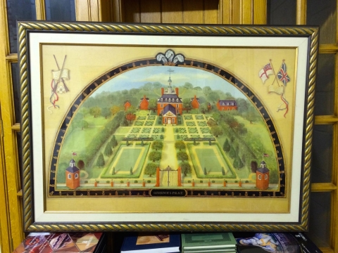 image showing catalogue for Coloured Photolithograph Reproduction Of The Governor's Palace, Williamsburg, Virginia, U.S.A